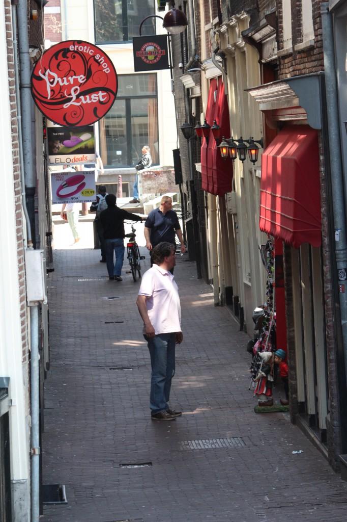 амстердам квартал красных фонарей
