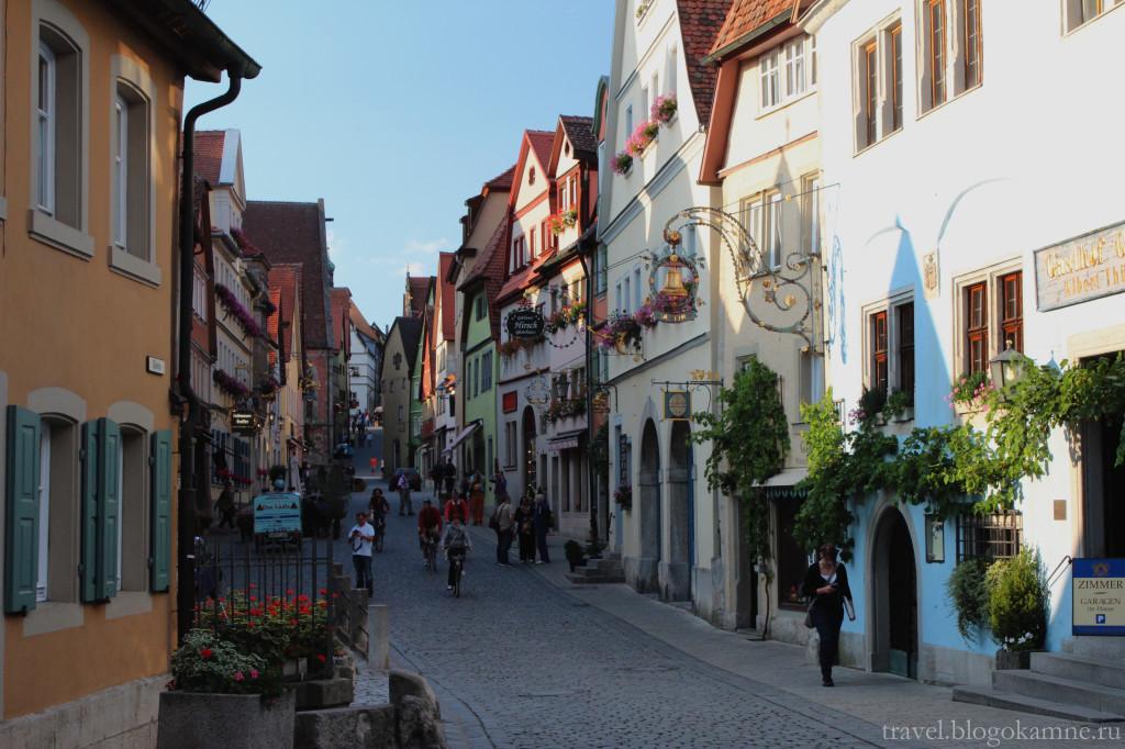 ротенбург на таубере улицы города фото