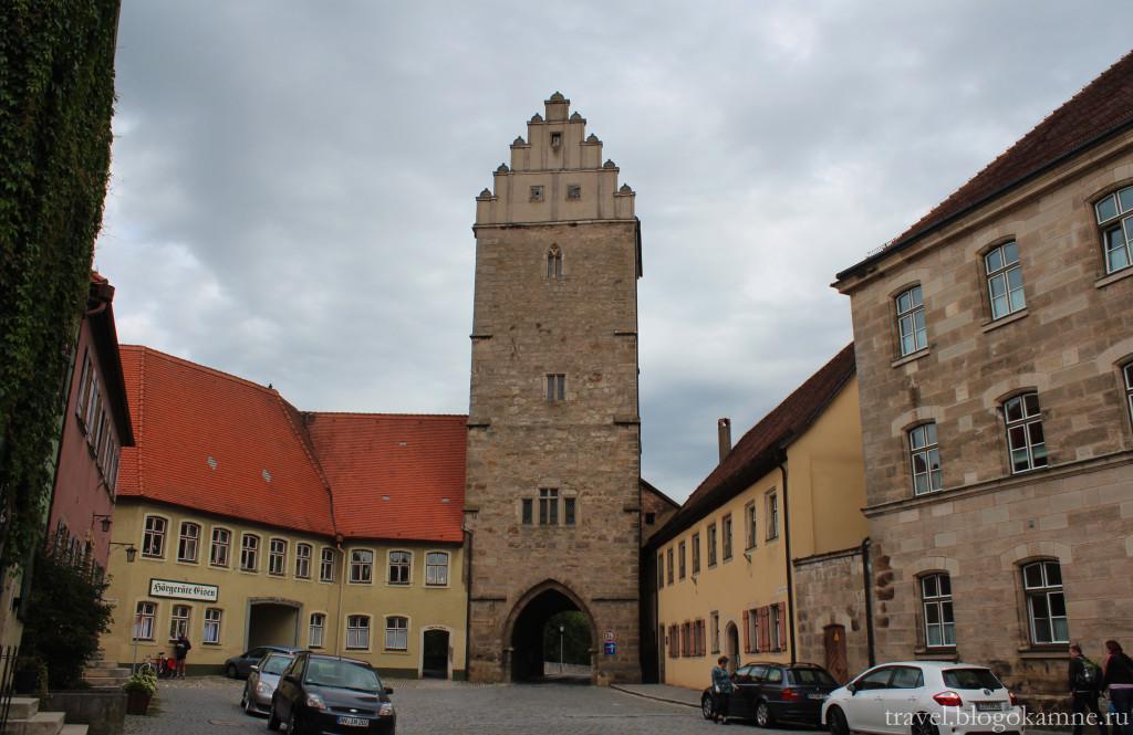 динкельсбюль крепостные ворота