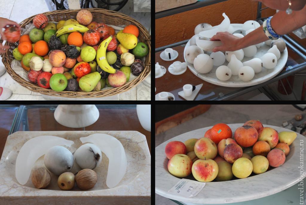 фрукты из мрамора